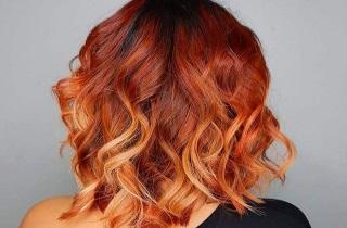 Какие оттенки подходят для балаяжа на рыжих волосах