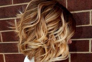Техника выполнения балаяжа на русых волосах