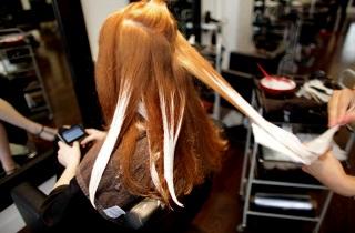 Как правильно окрашивать рыжие волосы по технике балаяж