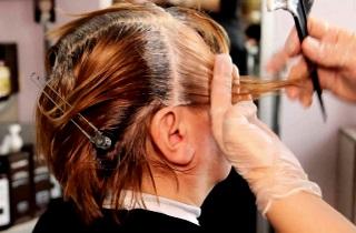 Технология выполнения блочного окрашивания волос