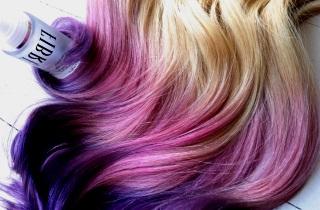 Как создать креативный образ с фиолетовым омбре