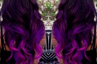 Как окрасить фиолетовое омбре в домашних условиях