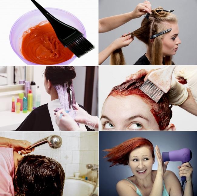 Каким образом можно окрасить волосы в красный цвет