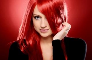 Окрашивание волос в оттенки красного