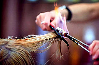 Обжиг волос