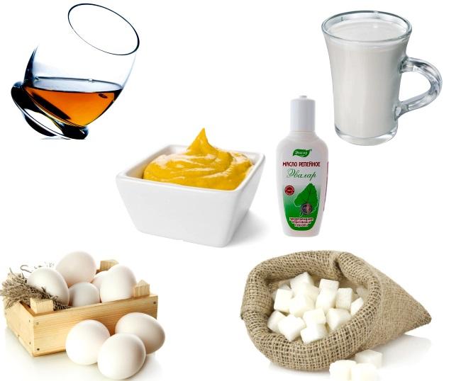 Рецепты масок для волос с горчицей и репейным маслом
