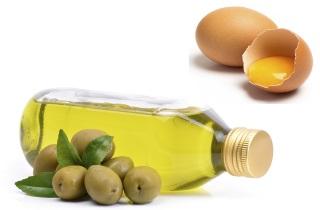 Маска для волос с яйцом и оливковым масло