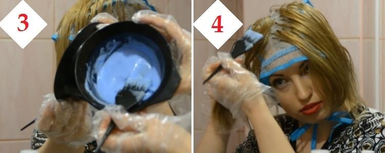 Домашнее мелирование волос через шапочку