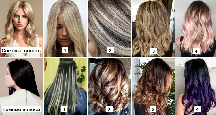Варианты домашнего мелирования на длинные волосы