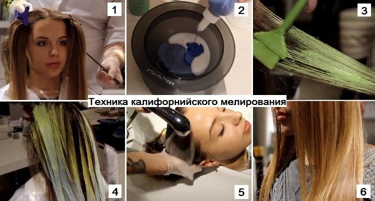 Выбираем технику мелирования для русых волос