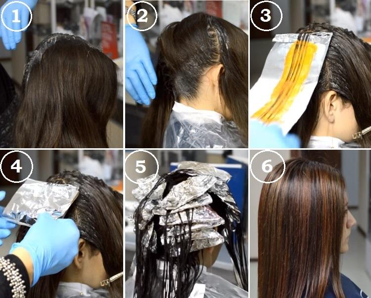 Как мелировать волосы в рыжий оттенок