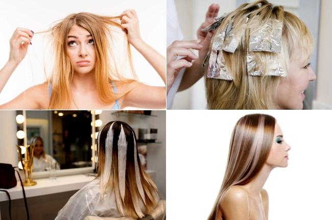 Техники окрашивания тонких волос
