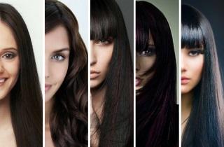 Особенности окрашивания темных волос
