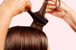 Процесс окрашивания волос с помощью кофе