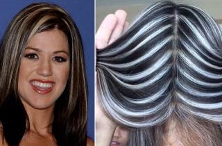 Окрашивание волос «зебра»