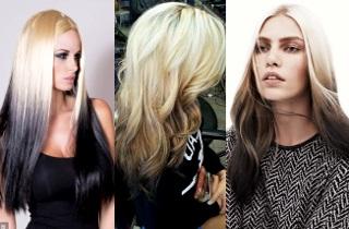 Как окрасить блонд в омбре