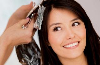 Окрашиваем черные волосы в светлое омбре