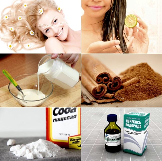 Рецепты домашнего осветления волос