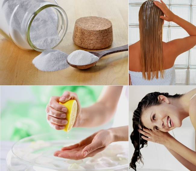 Как осветлить волосы содой