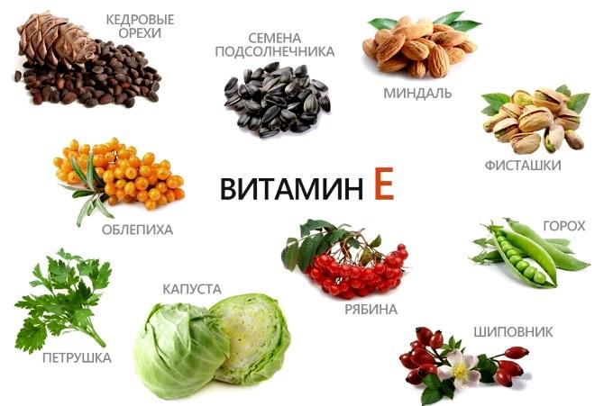 Применение витамина Е для волос