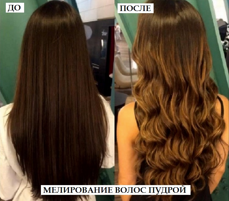 Пудра для мелирования волос