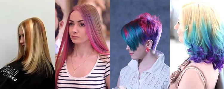 На светлых волосах любой цвет смотрится ярко